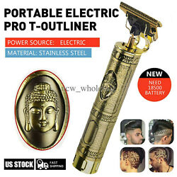 NEW Portable Electric Pro T-outliner Cordless Trimmer Wireless Hair Clipper Set $21.99