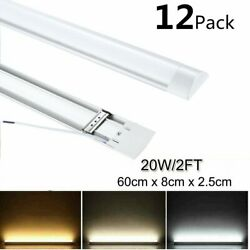 6 12x LED Shop Light Garage Fixture Ceiling Lamp LED Batten Tube Light 20W 60cm $11.84