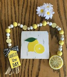 LEMON MINI SIGN TIERED TRAY FARMHOUSE RUSTIC HOME LOVE LEMONS KITCHEN DECOR $6.95