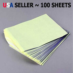 100 Sheets Tattoo Carbon Stencil Transfer Paper 8.5quot;x11quot; Master Units Sheet YW $18.99