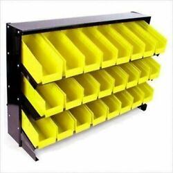 24 Plastic Bin Small Parts Storage Container Trays Rack Organizer Table Top $99.99