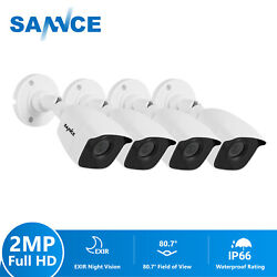 SANNCE 4X HD 1080P Home Outdoor CCTV Security Camera 3000TVI 100ft Night Vision $66.40
