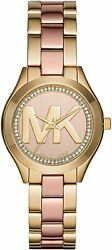 Michael Kors MK3650 Mini Runway Slim Two-Tone Women's Watch