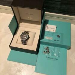 TIFFANY amp; CO ATLAS MEN#x27;S ANALOG WRIST WATCH AUTOMATIC WINDING GENUINE USED $2339.00