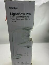 Brightech LightView Pro LED Magnifying Floor Lamp Daylight Bright WHITE