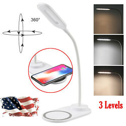 LED Desk Lamp Bedside Reading Light Dimmable Rechargeable Table Touch Control $14.99