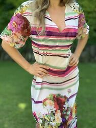 Ladies Gorgeous Long Multicoloured Floral Beach Cover Up Size M Preloved❤️ $23.57
