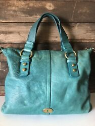 FOSSIL Long Live Vintage 1954 Soft Leather Handbag Tote $29.95