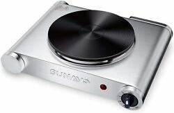 SUNAVO Hot Plate for Cooking Portable Electric Single Burner 1500W 5 Power Level $24.95