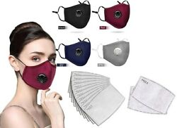 Reusable Cotton Face Masks with Valve $6.99