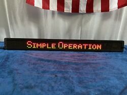 """Adaptive Micro Systems Alpha 220C Message LED Display Sign No Remote 38"""" Long $149.00"""