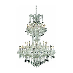 CRYSTAL CHANDELIER CHROME MARIA THERESA HIGH QUALITY FOYER LIGHTING 36-LIGHT 64