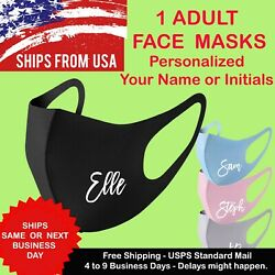 Your Name - Initial Personalized Unisex Face Mask Reusable Washable Printed Mask $5.99