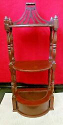 Hanging antique etagere Butler style F1 547 insert planter 24 quot; tall $42.00