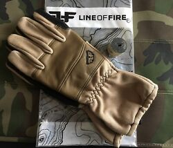 """Line of Fire Sortie Coyote Gloves L With 36"""" Tegs Tape Included. C $98.00"""