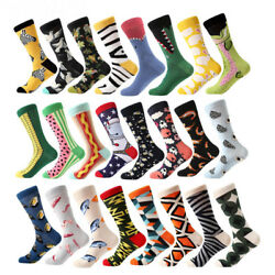 NEW Mens Cotton Socks Animal Alien Bear Chili Moustache Novelty Funny Sock #6950 $2.29