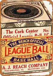 7x10 Metal Sign - 1910 Reach Official League Baseball - Rusty Look $18.95