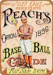 7x10 Metal Sign - 1896 Reachs Base Ball Guide - Rusty Look $18.95
