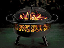 CELTIC IRISH THEMED OUTDOOR FIREPITGRILL COMBINATION