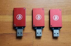 Three (3) ASICMiner Bitcoin Miner USB Block Erupter SHA-256 333 MHs $88.88