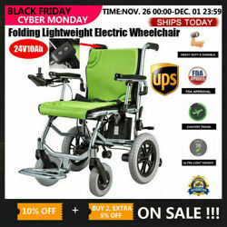 New Folding Lightweight Electric Power Wheelchair Mobility Aid Motorized 24V10Ah $889.99
