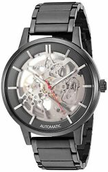 Kenneth Cole New York Mens Automatic Stainless Steel & Leather Watch KC50559002  $74.99
