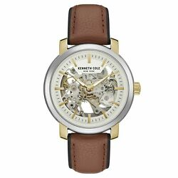 Kenneth Cole New York Mens Stainless Steel & Leather Automatic Watch KC50776005 $69.99