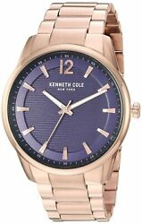 Kenneth Cole New York Mens Rose Gold Tone Stainless Steel Watch KC50688005 $54.26