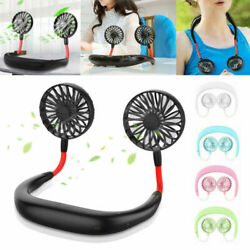 Lazy Fan Hanging Neck Mini Cooling Fan for Sports Rest Portable USB Rechargeable $10.95