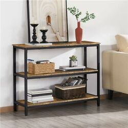 Industrial Console Table Vintage Accent Sofa Side Table for Entryway Living Room $68.99