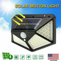 100 LED Solar Power PIR Motion Sensor Wall Light Outdoor Waterproof Garden Lamp $8.98