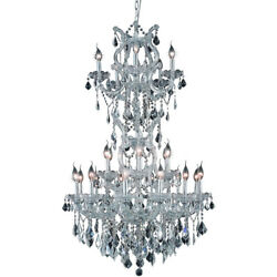 CRYSTAL CHANDELIER CHROME MARIA THERESA QUALITY FOYER DINING ROOM 25 LIGHT 50