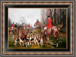 Hand painted Old Master Art Antique Oil Painting hunting dog on canvas 24quot;x36quot; $499.00