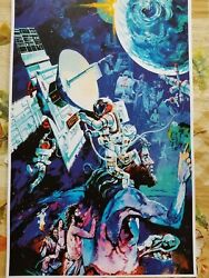EPCOT Spaceship Earth Mural Attraction Poster Print 11x17 Heavy Cardstock