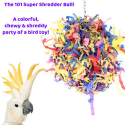 LARGE SUPER SHREDDER BALL BIRD TOY cages birds foraging toys parrot amazon $22.99
