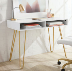 MODERN WRITING DESK Computer Home Office Laptop Workstation Study Table White $104.99