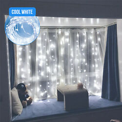 300 LED Curtain Fairy Lights USB String Hanging Wall Lights Wedding Party USA $5.97
