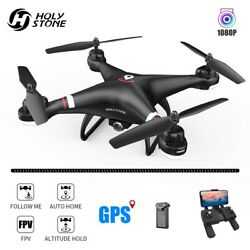 Holy Stone HS110G GPS drone with 1080P HD camera FPV RC quadcopter tapfly selfie $94.99