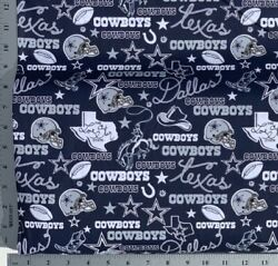 DALLAS COWBOYS NFL Cotton Fabric **Just released New Updated Print**18yd (9x22) $9.99