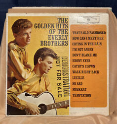 Everly Brothers  The Golden Hits of the Everly Broth. Demo  WB 1471  VG+  Orig. $75.00