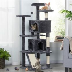 55quot; Pet Cat Tree Condo Play Tower Bed Furniture Scratching Post Perches House $61.69