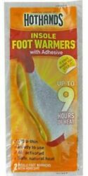 NEW! HotHands Insole Foot Warmers w Adhesive - 9 Hours of Heat - 5 Pairs  Packs $11.00