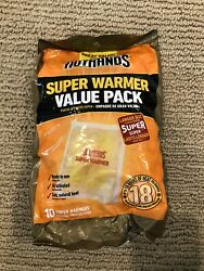 30 LARGE HotHands Body & Hand Super Warmers Value Pack 18 Hours of Heat Each $24.00