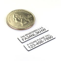 FAA DRONE REGISTRATION amp; TELEPHONE NUMBER TAGS ENGRAVED $9.99