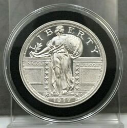 1917 STANDING LIBERTY QUARTER TYPE II – 2 TROY OUNCE – 39MM 2oz .999 Fine Silver $79.99
