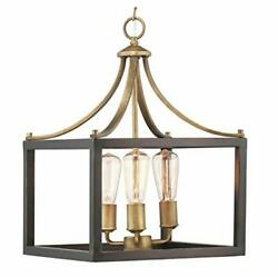 Home Decorators Collection Boswell Quarter 3-Light Vintage Brass Pendant $76.99