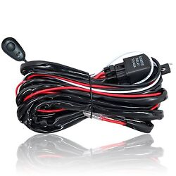 LED Work Light Bar ON OFF Switch Wiring Harness Realy Driving Pod 2 Lead Connect $9.49