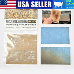 DIY Kit For 1 35 1 48 1 72 Scale Model Weathering Airbrush Stencils Tools US $10.56