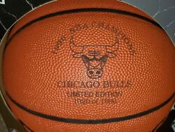 Chicago Bulls 1996 NBA Champions Laser Engraved Limited Edition Spalding Leather $245.00
