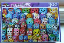 New 300 Piece Jigsaw Puzzle Colorful Day of the Dead Skulls Puzzlebug $6.99
